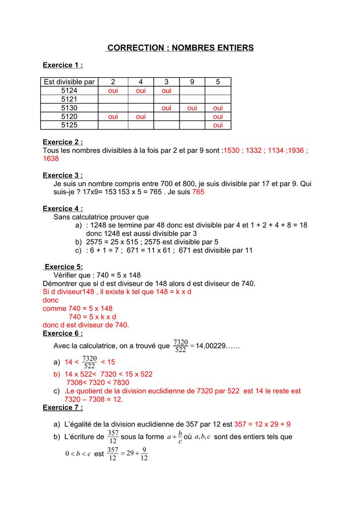 division sans calculatrice