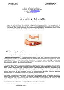 Home training - Epicondylite