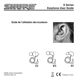 Shure E Series Pro User Guide French