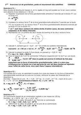 correction exercice gravitation