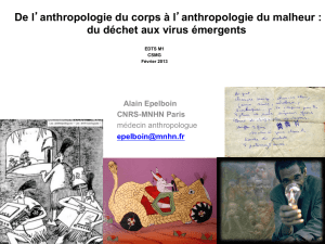 De l`anthropologie du corps à l`anthropologie du malheur : du