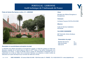 PORTUGAL - LISBONNE Audit technique de l`Ambassade de