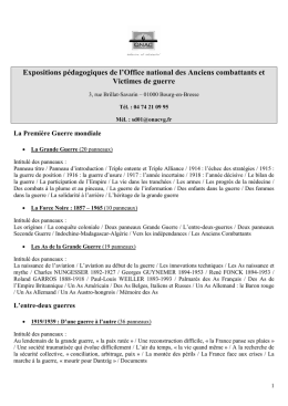 Liste des expositions ONAC (accessible - PDF)