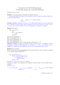 Correction du CC2 Informatique