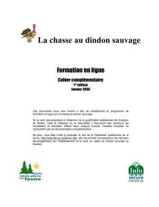 Cahier Chasse Dindon 2006 - La chasse au dindon sauvage