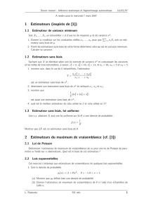 1 Estimateurs (inspirés de [1]) 2 Estimateurs du maximum de