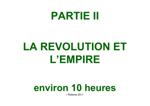 partie ii la revolution et l`empire