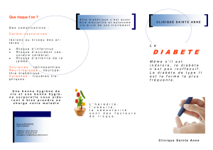 diabete - clinique Sainte ANNE
