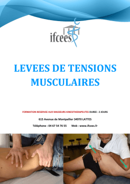levees de tensions musculaires