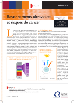 rayonnements ultraviolets et risques de cancer