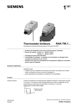 1187 Thermostats limiteurs RAK