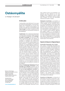 Ostéomyélite - Swiss Medical Forum