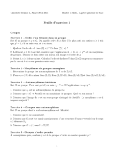 Feuille d`exercices 1