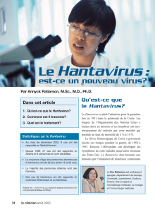 Le Hantavirus - STA HealthCare Communications