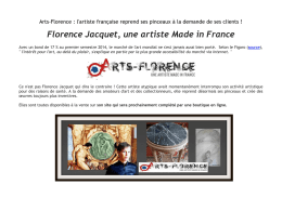 Florence Jacquet, une artiste Made in France - Relations