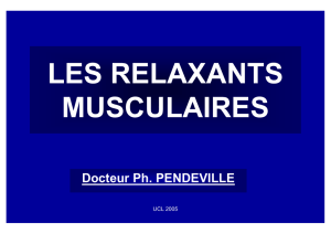 les relaxants musculaires