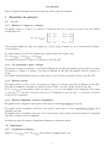 1 Ensembles de matrices