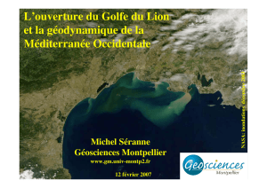 Marge Golfe du Lion - Géosciences Montpellier