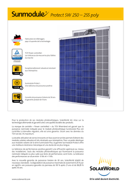 Sunmodule Protect SW 250 – 255 poly - Energy