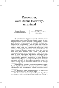 Rencontrer, avec Donna Haraway, un animal