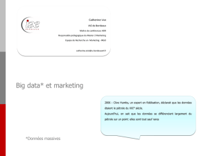 Big data* et marketing