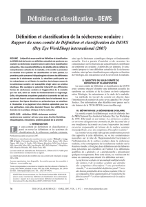 Définition et classification - DEWS