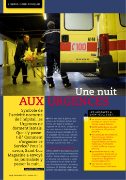 Saint-Luc Magazine - Cliniques universitaires Saint-Luc