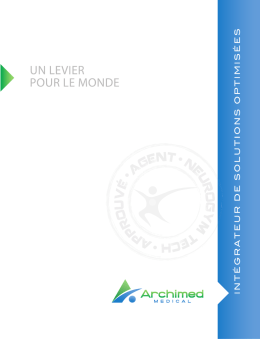 IC+ c`est quoi - Archimed Medical