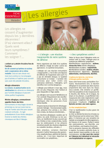 Les allergies - CCMO Mutuelle
