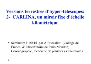 Versions terrestres d`hyper-télescopes