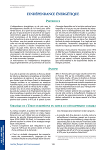 Indicateurs de developpement durable
