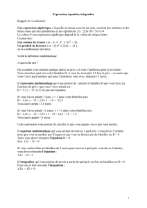 Cours Expressions Equations