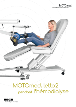Documentation sur le MOTOmed letto dialyse