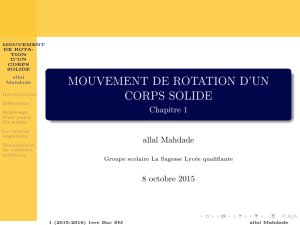 MOUVEMENT DE ROTATION D`UN CORPS SOLIDE