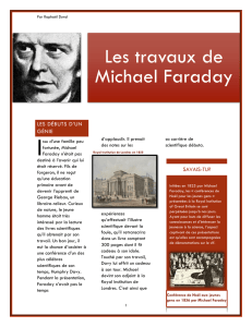 Les travaux de Michael Faraday