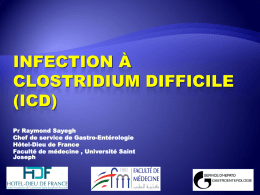 Clostridium difficile - Hôtel Dieu de France