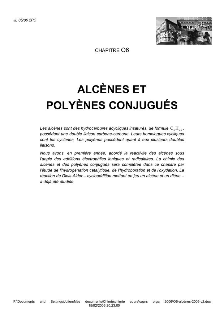 Alcenes Et Polyenes Conjugues