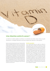 Une vitamine contre le cancer