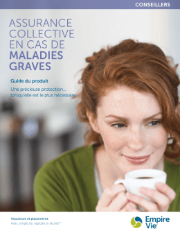 Assurance collective en cas de maladies graves