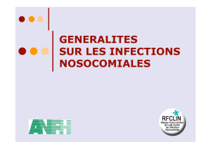 Les infections nosocomiales - chu