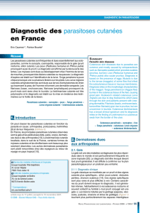 Diagnostic des parasitoses cutanées en France