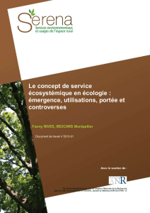 Programme Serena. Document de travail n°2013-01 - serena