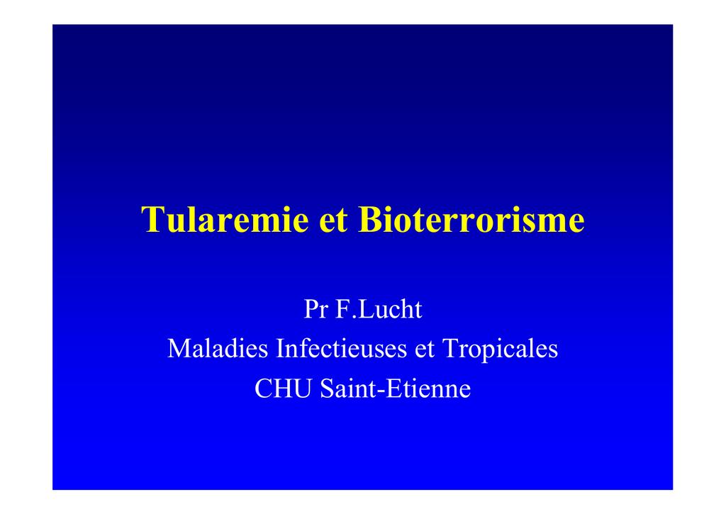 Tularemie et Bioterrorisme