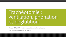 5 Beauvair C atelier Trachéotomie ventilation phonation