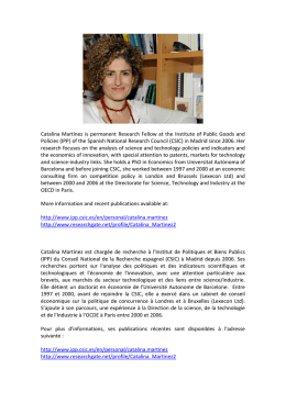 Catalina Martínez is permanent Research Fellow at the
