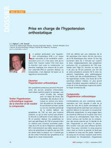 Prise en charge de l`hypotension orthostatique