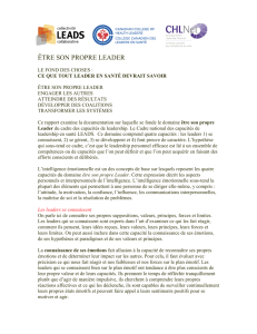 LEADS - ÊTRE SON PROPRE LEADER