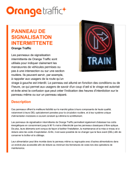 Panneau de signalisation intermittente | Orange Traffic inc.