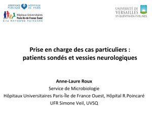 patient sondé, vessie neurologique