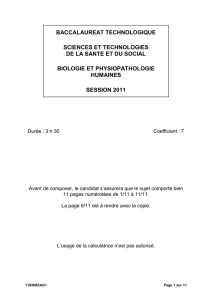 baccalaureat technologique sciences et technologies de la sante et